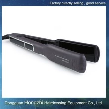 Dongguan ionic jet black hair straightener flat iron with best factory cheap price
