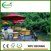Eco friendly wood plastic composite wpc outdoor decking/flooring
