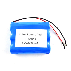 Customized Cycle Deep Cell 6Ah 3.7V 6600Mah Li Ion Battery Pack 1S3P 18650 U L Ce