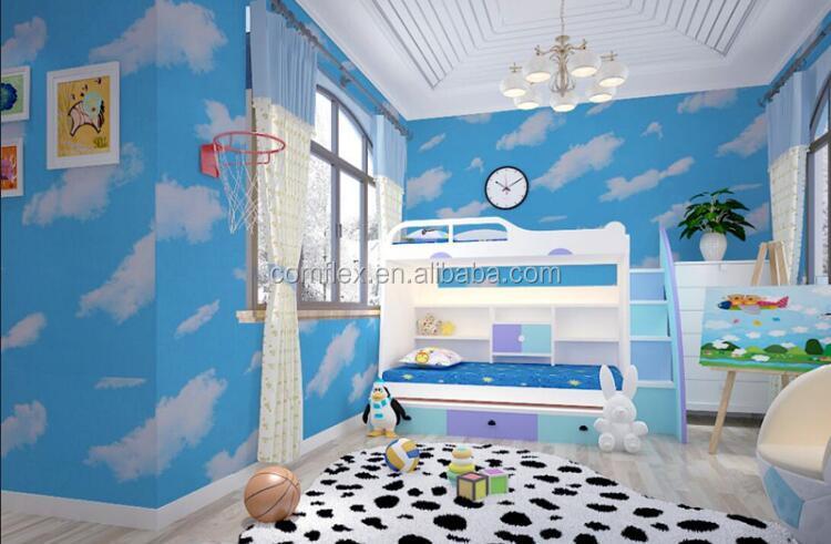 Blue Sky And Cloud Pattern Waterproof Vinyl Room Wallpaper 3d Wall Paper Pvc Self Adhesive Foil Sticker For Kids Bedroom Buy Blue Wallpaper Room Wallpaper Self Adhesive Foil Sticker Product On Alibaba Com