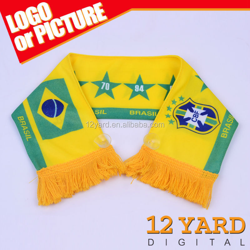 Hot sale Brasil World Cup mini fans football scarf window decoration mini scarf