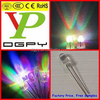5mm rgb 7 color flashing blinking led