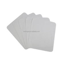 plain light grey microfiber eyeglass print lens cleaning cloth