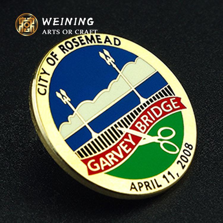 Su misura a buon mercato pin badge/sicurezza emblema di metallo personalizzato militare distintivo pin con il tuo design
