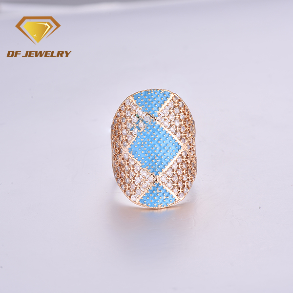 CR1707382 handmade brass jewelry mix colors stone gold rings designs