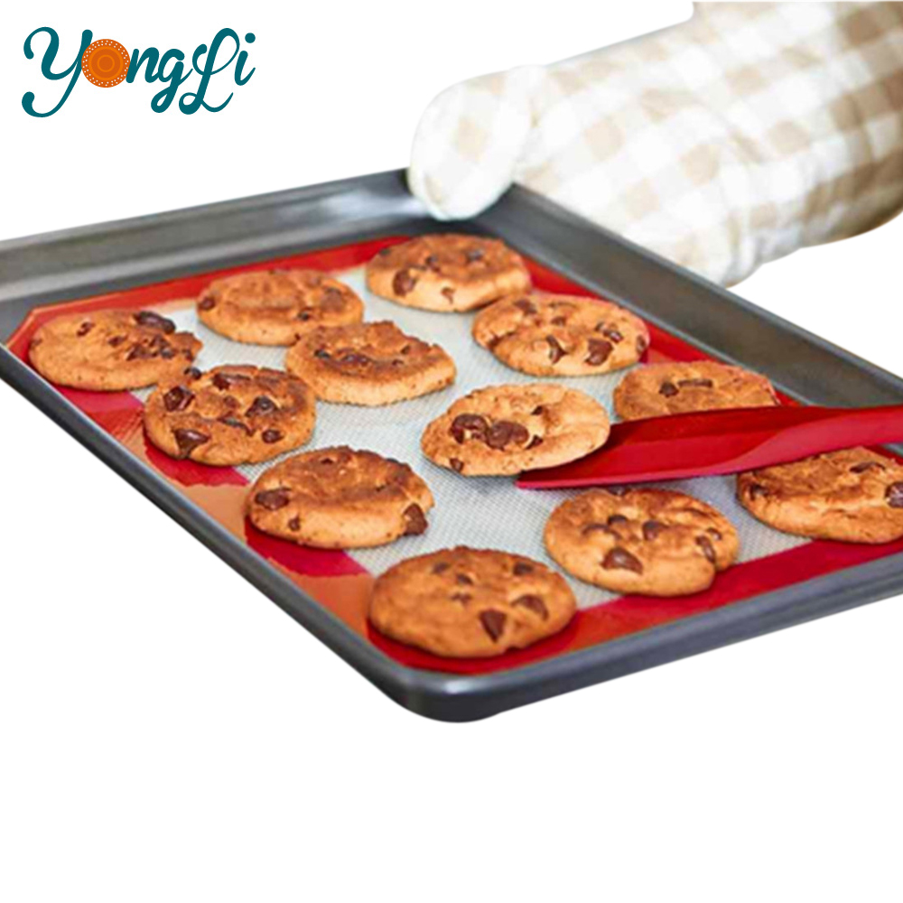 Wholesale Custom Eco-Friendly Oven Pan Liners Non Stick Silicone Baking Mat Sheet Private Label