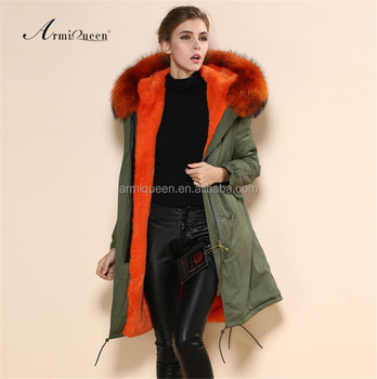 Wholesale New Military Style Long Jacket With Raccoon Fur Collar ...