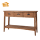 3 Wooden Study Drawer Console Table