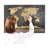 Amazing Christmas Gift World Travel Scratch Puzzle Map With Special Flags