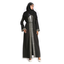 Vrouw Thicken Chiffon Vest Kant <span class=keywords><strong>Arabische</strong></span> Gewaad moslim <span class=keywords><strong>abaya</strong></span> met kap