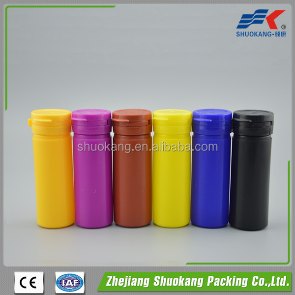 60cc 60ml PE chewing gum bottle for sale with tear off cap