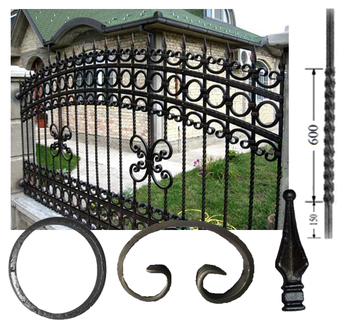 Cheap Decorative Wrought Iron Fence designs View fence designs