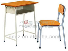 wood products student desk and chair/india college student desk and chair/china supplier of school furniture