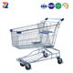 Custom advertising board steel 120L electric plating shopping trolley with seat