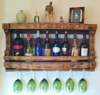 Retro Valley Reclaimed Wood Wine Rack