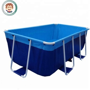large outdoor plastic inflatable above ground steel frame swimming pool for adults and kids water park metal swim pool for sale