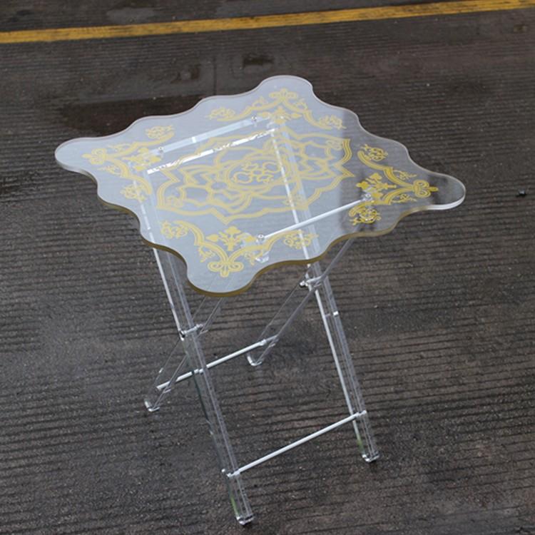Custom Mini Clear Plastic Coffee TablesAcrylic Folding End Table