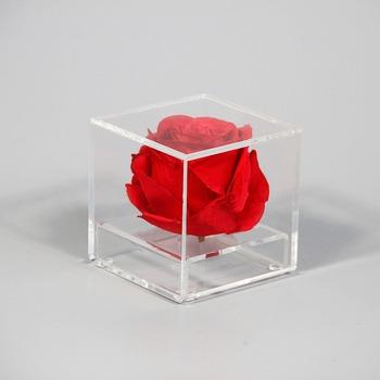 Acrylic Material Flower Arrangement Box Rose Display Case Acrylic
