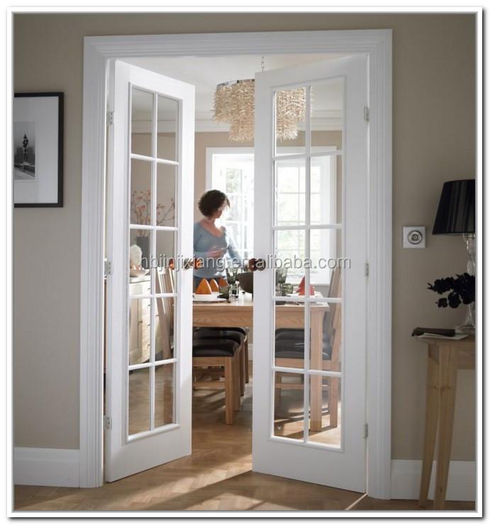 White Color Interior Wood Double French Doors Buy Wood Doorlatest