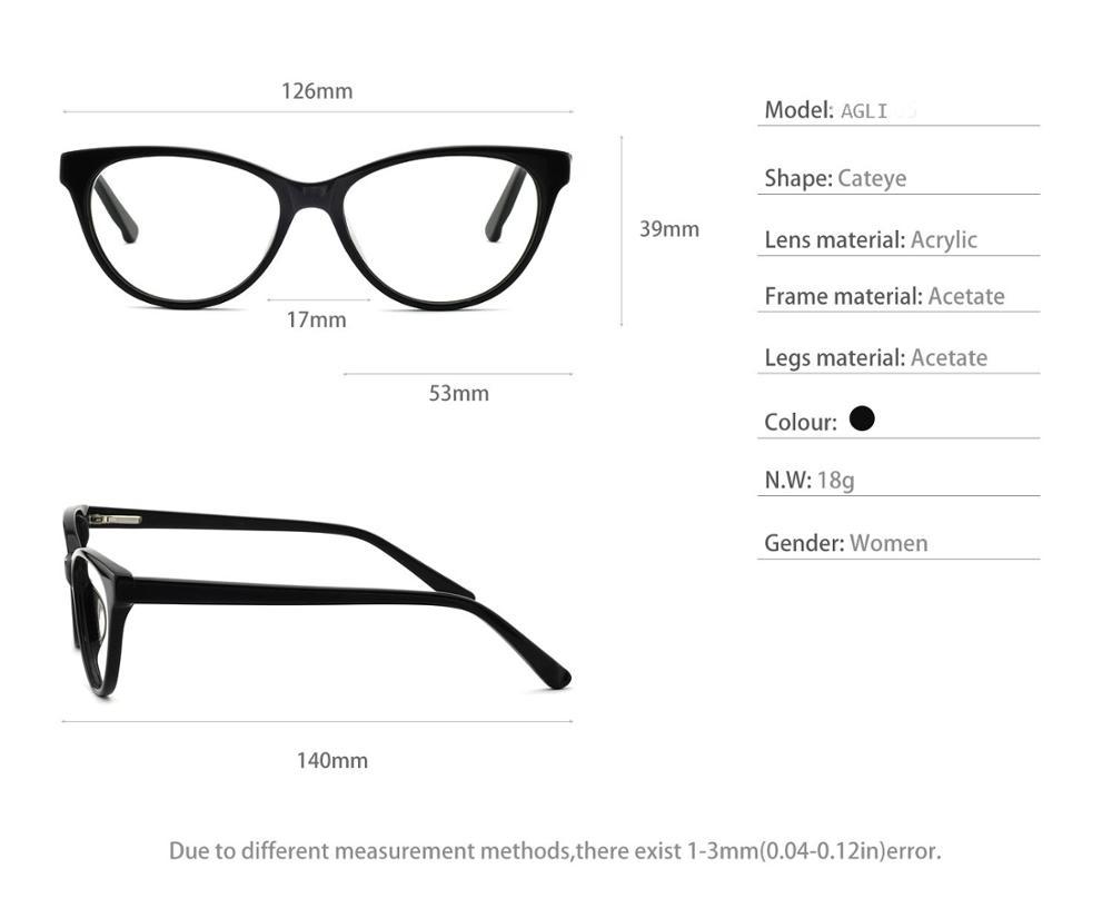 Diseñador ojo gafas marco gafas mujeres acetato gafas marcos ópticos ...