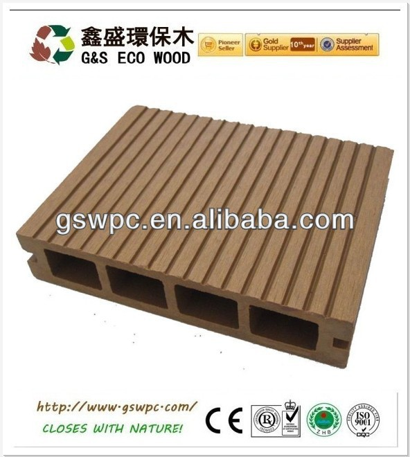 Hollow wood Plastic decking floor wpc&High quality decking