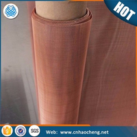 30 mesh 500 micron copper crimped wire mesh screen/metal mesh fabric