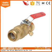 Lockable full flow flat lever handle female/male long threads ball valve