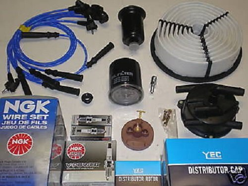 For Toyota 4Runner 3.0L Ignition Tune Up Filters Cap Rotor Spark Plugs Wire Kit