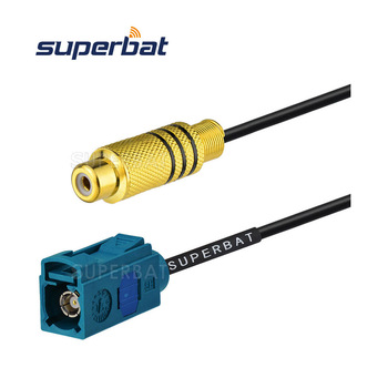 Fakra to RCA Adapter rf coaxial cable assembly