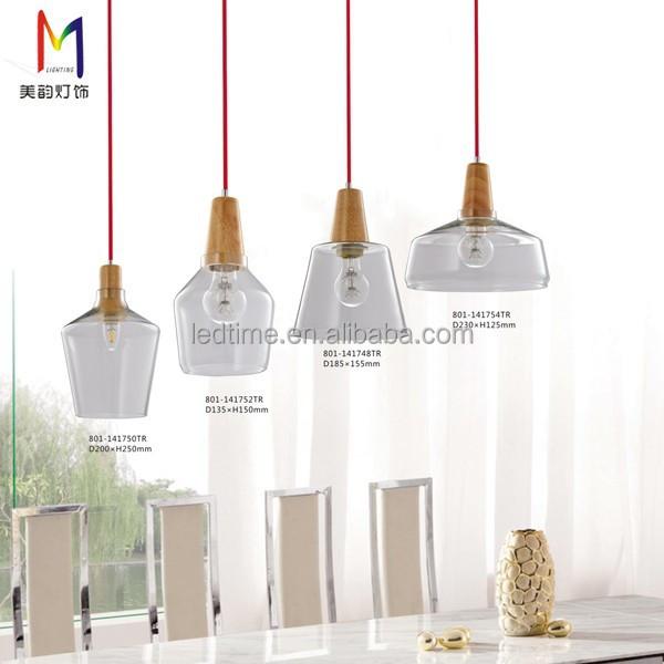 Classico stile industriale clear glass lampada a for Lampada ristorante
