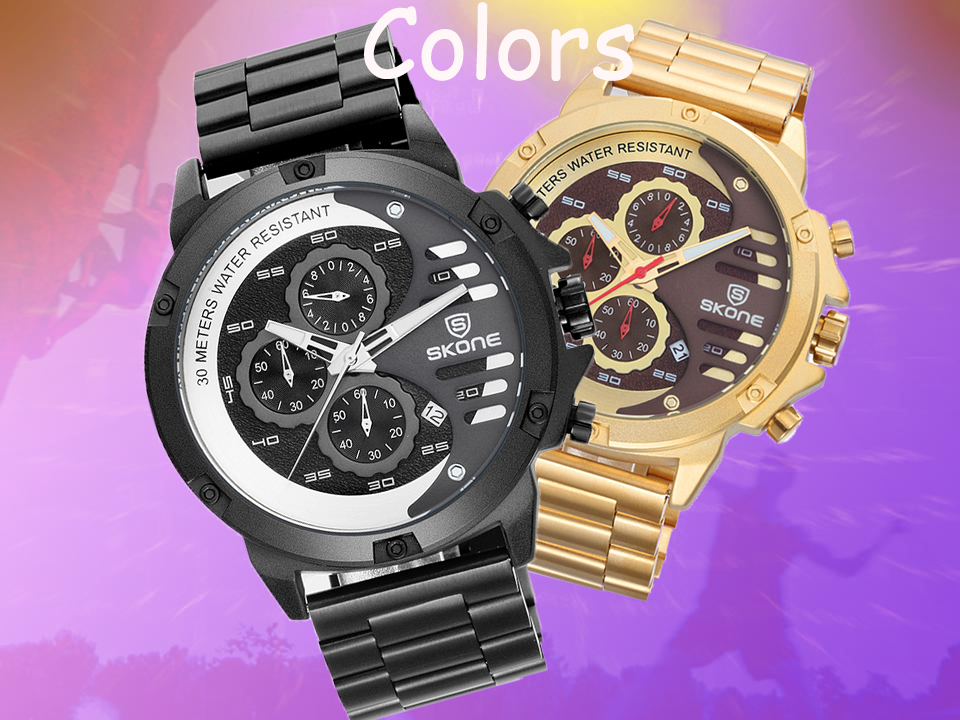High quality 3 atm water resistant sport watch for men