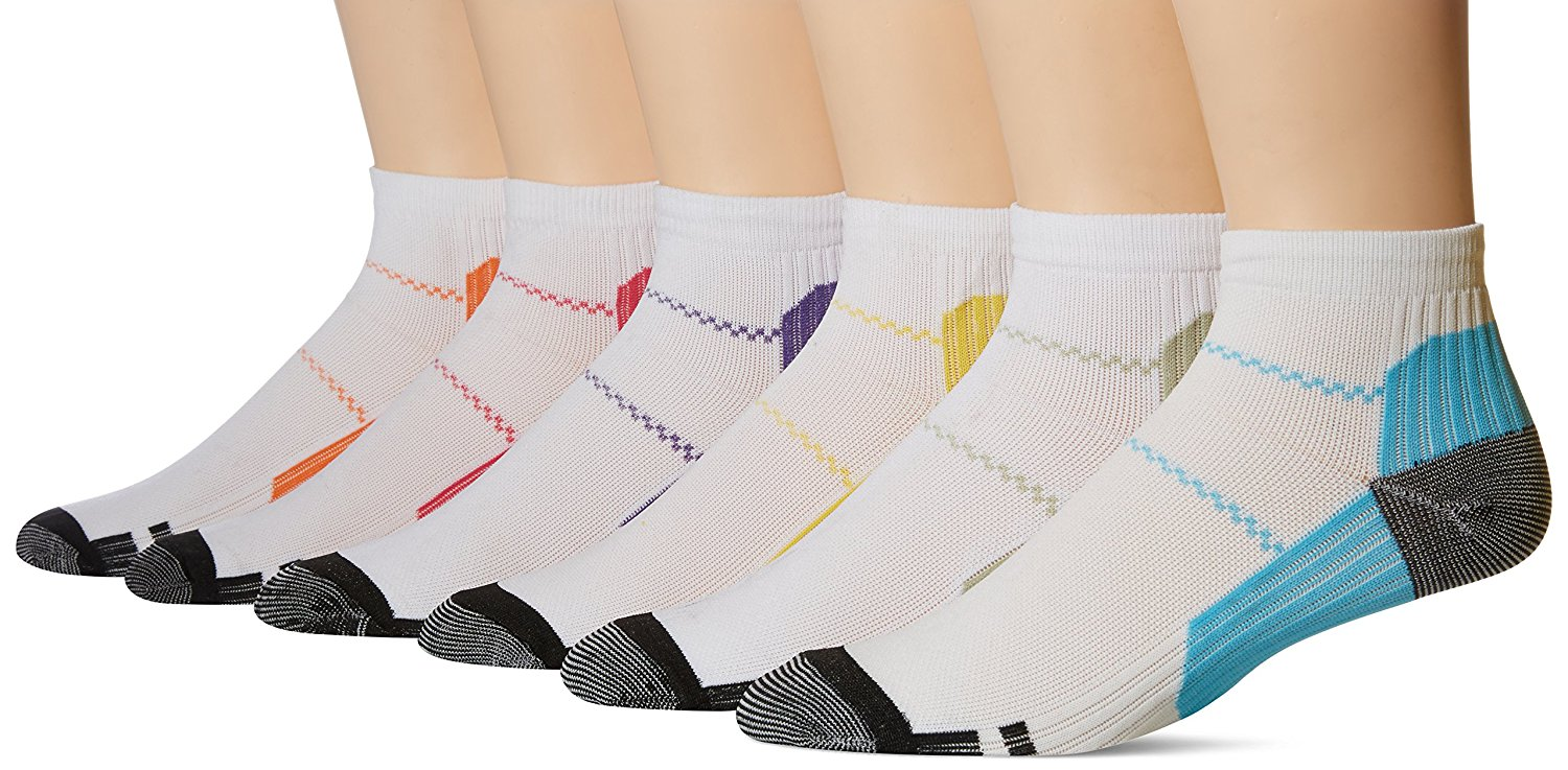 c5e3813871 Get Quotations · PU LifeStyle 6 Pair Unisex Plantar Fasciitis, Arch and  Heel Pain Ankle Compression Socks,