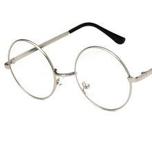 Круглые очки для близорукости, оправа для женщин и мужчин, поддельные очки, ретро-рамки, металлические прозрачные линзы, оптические очки, оч...(Китай)