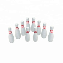 Houten witte <span class=keywords><strong>bowling</strong></span> set voor kids indoor en outdoor game, Gazon <span class=keywords><strong>Bowling</strong></span> Game Kegelbaan Bal