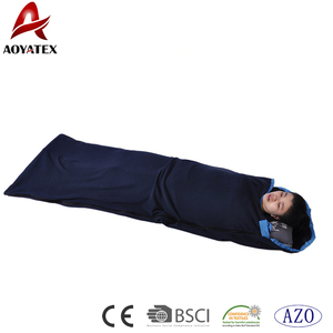 Promotion Custom Anti-Pilling Polar Fleece Sleeping Bag For Outdoor Camping