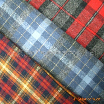 China stock lots yarn dyed flannel fabric for man shirt
