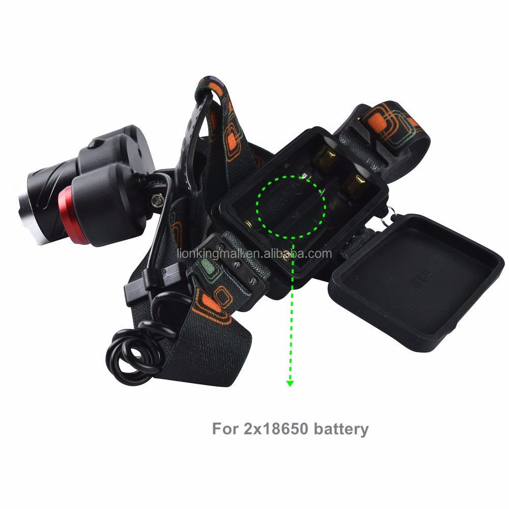 AloneFire HP93 Zoomable headlight xml t6 head lamp T6 led+LTS 6000Lm led Rechargeable 18650 Headlamp Headlight Head Torch