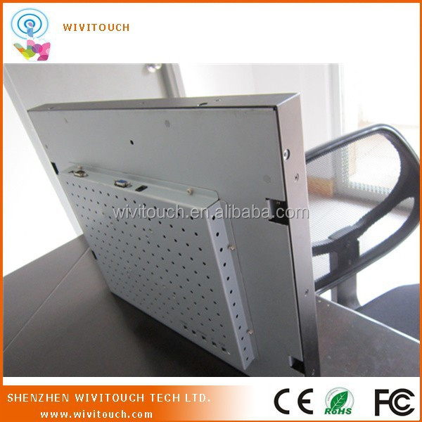 19 inch SAW touch embedded open frame lcd monitor