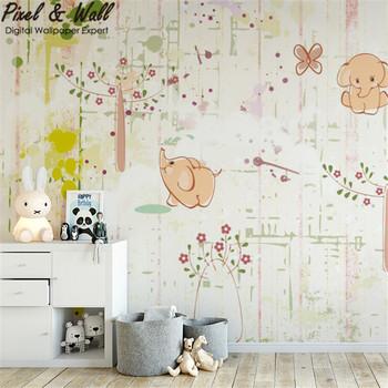 Amour De Dessin Animé Photo Papier Peint Moderne Enfants Chambre Wfe10321 -  Buy Photo Murale,Papier Peint Moderne,Papier Peint Chambre D\'enfants ...