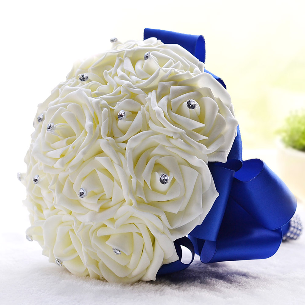 Beautiful Foam Roses Artificial Flower Bride Bouquet Party Decor