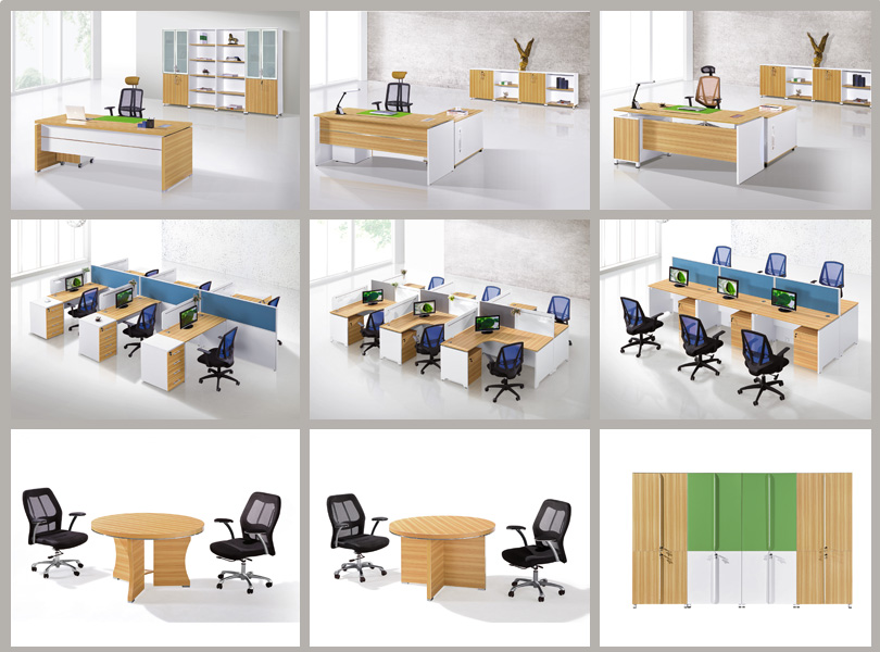 White And Brown Executive Director Boss Ceo Table Design From Guangzhou Office Supplies