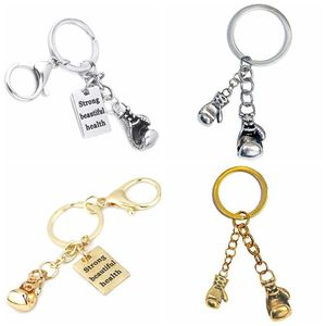 Boxing Glove Charm Metal Keychain Strong Beautiful Health Key Ring AA484