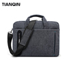 Multi-compartment Briefcase Grey Nylon Shoulder Bag for Laptop