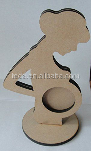 Pregnant Lady MDF Craft Shape Photo Frame