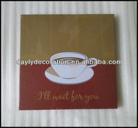 canvas painting coffee frame waiting for you canvas photo frame