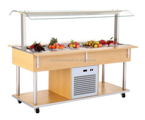 salad bar refrigerated counter cold salad bar Guangzhou manufacturer