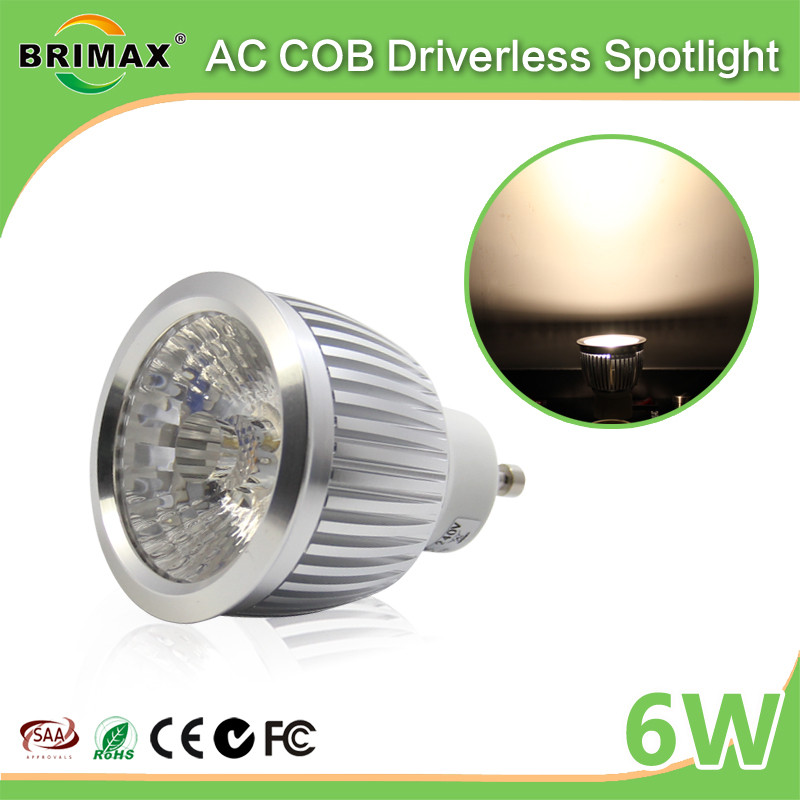 BRIMAX Best Selling Factory Price GU10 LED <strong>Spotlight</strong> 6W,COB LED LIGHT BULB 6W