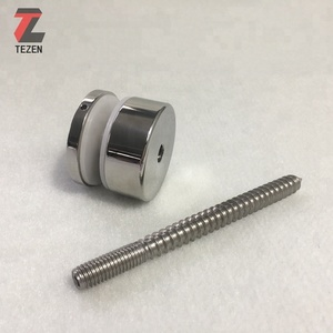 Adjustable female threaded standoff round fitting hardware