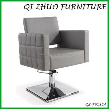 Grey color lady salon chair hair beauty salon chairs qz for Colored salon chairs