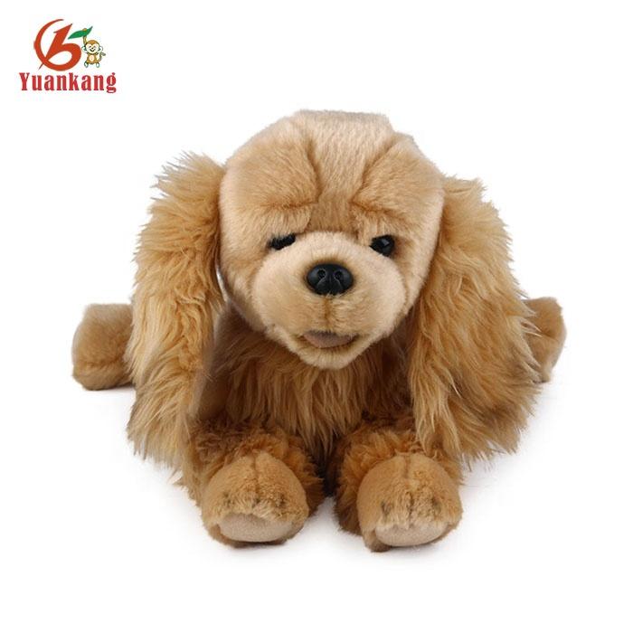 Wholesale Fluffy Dog Toy Stuffed Animal Life Size Real Plush Dog